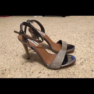 Steve Madden silver high heels